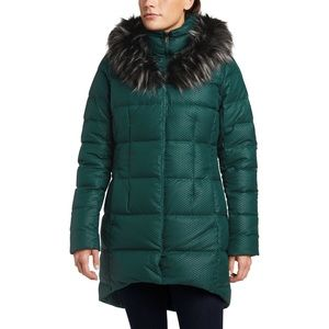 the North Face Fur Hooded Parkina Down Jacket